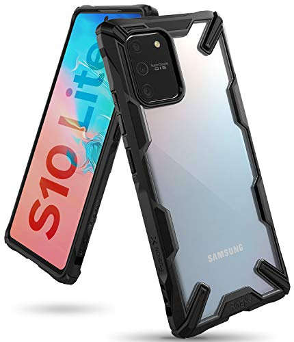 Ringke Fusion-X Designed Military Drop Tested Ergonomic Transparent PC TPU Bumper Impact Resistant Protection Back Case Cover for Samsung Galaxy S10 Lite (Black)