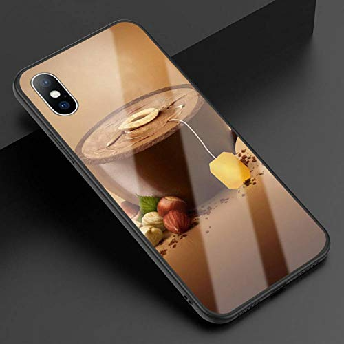 ZJHHH gehard glas telefoonhoesje voor iPhone X XR XS Max grappige draak fruit citroen theepot back cover voor iPhone 7 8 6 6S Plus hoesje For iPhone 7 Plus AC5707