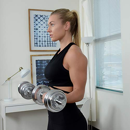 Sunny Health (SJTT9) 14 and Fitness 33-Pound Dumbbell Chrome Set Review 8