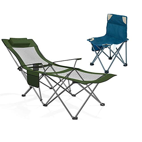 Table HDS Camping Lounge Chair Reclining Folding Pause im Freien Strand Angeln Stühle Bürohaushalts bewegliche Faltbare Nap Stuhl (Color : 9)