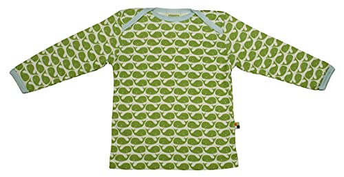 loud + proud Baby Jungen Langarm aus Bio Baumwolle, Gots Zertifiziert Sweatshirt, Grün (Moos ), 74-80 EU