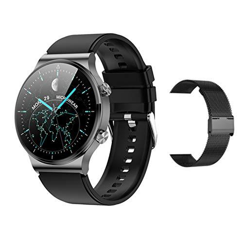 Smartwatch Puede Responder A Los Relojes Inteligentes De Los Hombres Que Carga Inalámbrica De 1.3 Pulgadas De Pantalla Redonda Bluetooth Music Sports Activity Tracker, Adecuado para Android iOS,L