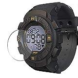 VacFun 3 Piezas Vidrio Templado Protector de Pantalla Compatible con Lenovo Ego Smartwatch Smart Watch, 9H Cristal Screen Protector Película Protectora Reloj Inteligente