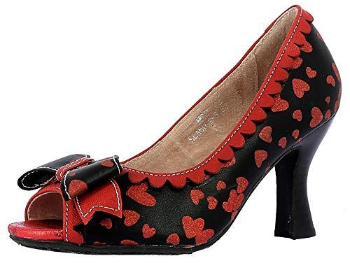 Laura Vita HOCO 05 damskie buty czółenka Peeptoe, czarny - czarny - 39 eu