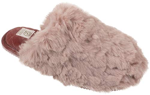 Chinese Laundry CL Womens Slippers with Memory Foam, Warm Plush Slip on Scuff Clog, Size XL / 11-12, Rose Pink