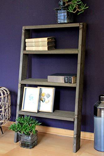 Bloementrap boekenkast decoratieve ladderkast schoenenrek hout plank bruin