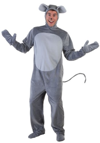 Mouse Costume Adult Merry Mouse Costume for Adults Standard Gray