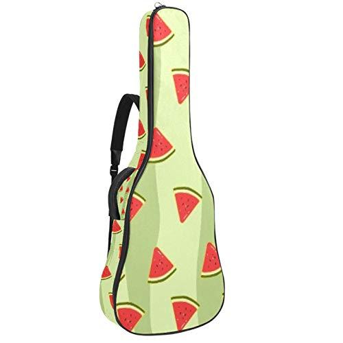Watermelons - Funda impermeable para guitarra (tela Oxford, con correa ajustable para el hombro)