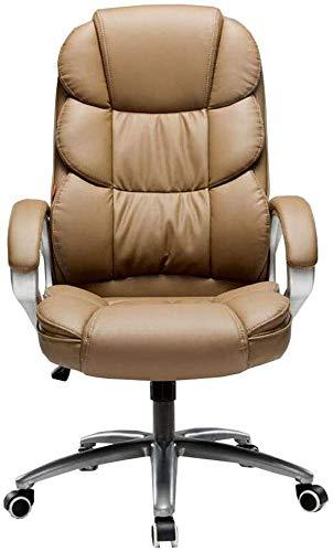 WYL Degree Swivel Executive Ergonomic Armrest Adjustable Height Tilt Mechanism Comfortable Service Modern Appearance (Color : Brown)