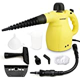 H·HOSUN Classic Multifunction Handheld Steam Cleaner with Child Lock, 9-Piece Accessories for Stain