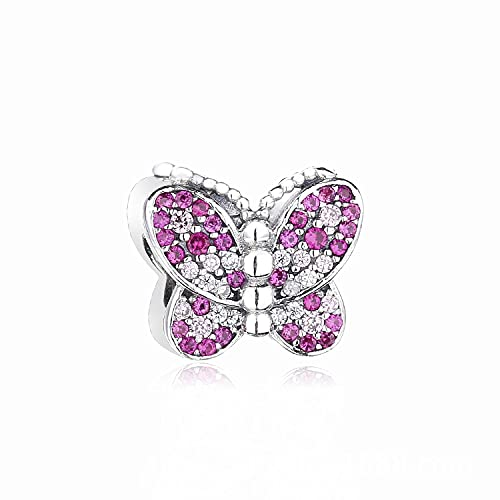 LIIHVYI Pandora Charms para Mujeres Cuentas Plata De Ley 925 Accesorios De Mariposa Compatible con Pulseras Europeos Collars