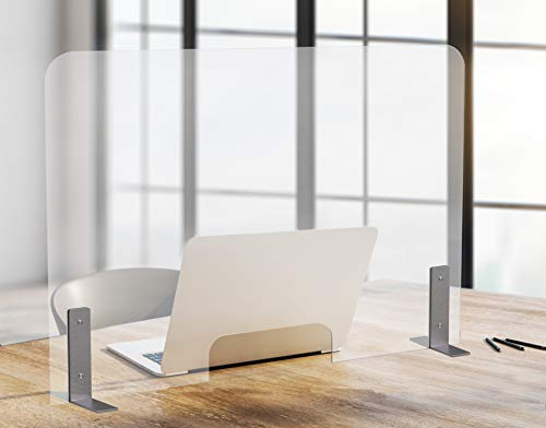 Playwood.it Safety Wall - con Apertura passacarte. Plexiglass antibatterici per attività Commerciali. Protezione Emergenza, barriera Protettiva. 99x66 cm