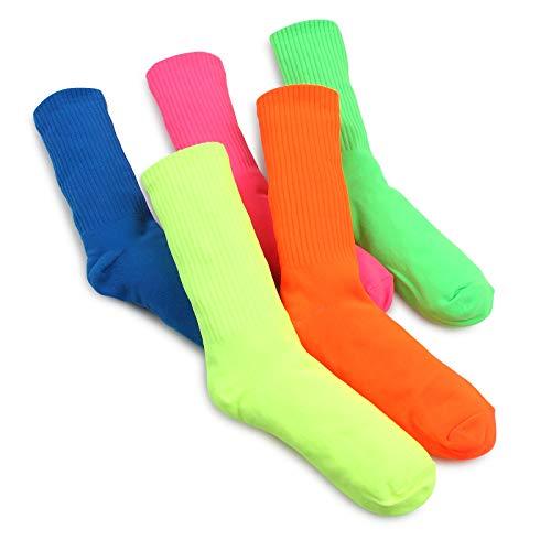 Intype Neon bunte lustige socken Damen mix match Street fashion Stil (5 Paare) WQ 15
