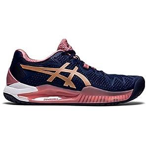 ASICS Women's Gel-Resolution 8 Tennis Shoes, 9, Peacoat/Rose Gold