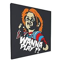 Chucky Wanna Play アートパネル アート ポスター 壁画 壁掛け 絵 モダンアート インテリア装飾 壁飾り プリントアート お洒落 新築飾り 30*30cm 気分転換 癒し