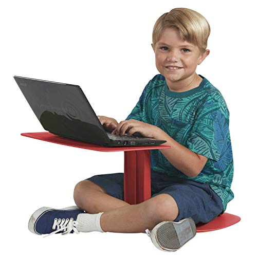 ECR4Kids - ELR-15810-RD The Surf Portable Lap Desk, Flexible Seating for Homeschool and Classrooms,...