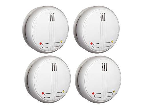 4er SET vernetzbare Funkrauchmelder + Magnethalter - 20 Melder schnurlos vernetzbar bis zu 40 Metern!