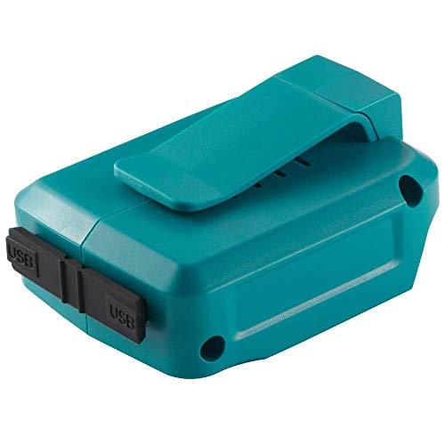 Boetpcr ADP05 Stromquelle für Makita LXT Lithium-Ionen 14V-18V USB Adapter Schnellladekonverter BL1815 BL1830 BL1840 BL1850 BL1415 BL1430 LXT Li-Ionen Akku