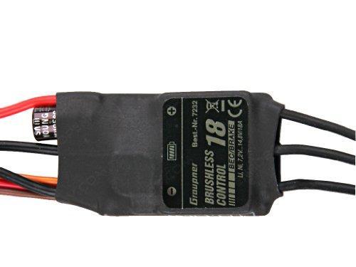 Graupner 33718 Regler BRUSHLESS CONTROL + T 18 BEC JR