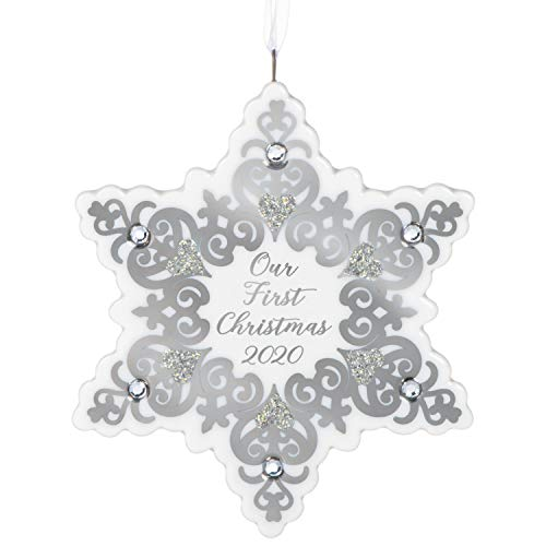 Hallmark Keepsake Ornament 2020 Year-Dated, Our First Christmas Snowflake, Porcelain