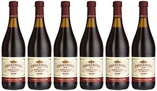 Cavicchioli Lambrusco Rosso dell´ Emilia IGT dolce amabile (6 x 0.75 l)