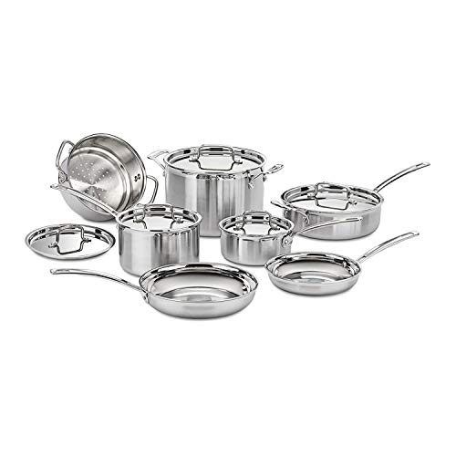 Cuisinart MCP-12N MultiClad Pro 3-Ply Stainless Steel 12-Piece Cookware Set