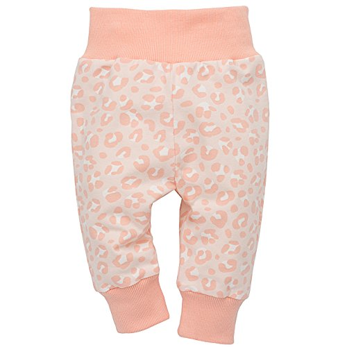 Pinokio - Sweet Panther - Baby Hose 100% Baumwolle, Hellrosa Rosa Apricot Leo Muster Leopard- Jogginghose, Schlafhose, Leggins - elastischer...
