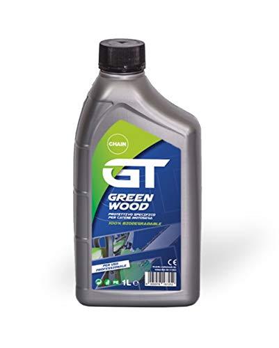 elettrosega olio GT Green Wood Olio Per Catena Motosega 1 Litro - 100% Biodegradabile