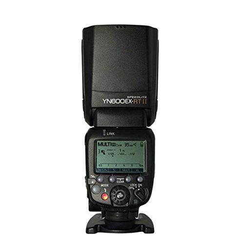 Yongnuo YN600EX-RT II Kabelloser Blitz Speedlite TTL Master für Canon Canon 70D 60D 50D 40D 30D mit WINGONEER Diffusor