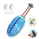 CVOZO Bola de juguete para perros, 1 pieza de juguete para masticar y 2 cepillos de dientes para mascotas, ayuda a limpiar los dientes del perro.
