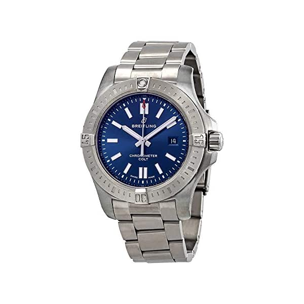 Breitling Watches Breitling Chronomat Colt Automatic 44 Blue Dial Men's Watch A17388101C1A1