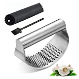 ✅【Premium Material】New garlic press is very durable and made of premium 100% full 430 stainless steel. The peeler tube can peeling garlic quickly and cleaning easily. The cooking gadgets made of full stainless steel - 1 pcs can last a lifetime. ✅【Erg...