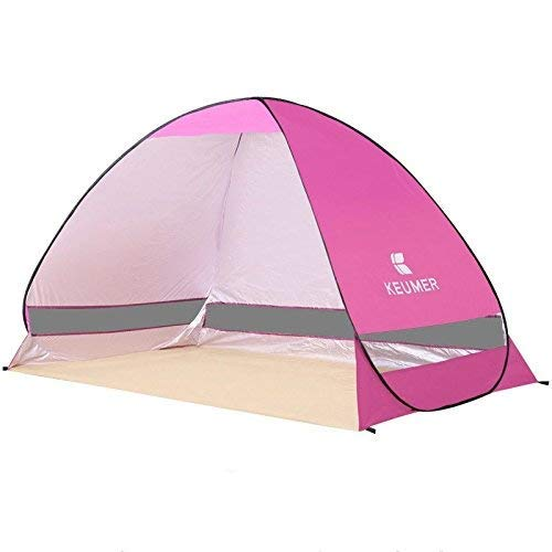 Outdoor Waterproof Tent, Beach Tents, Beach Tents Automatically Open Folding Outdoor Double Fishing Tent Rain Sun Shade UV Tent (Color : Pink),For Beach Camping Hiking Fishing for Beach Camping Hiking
