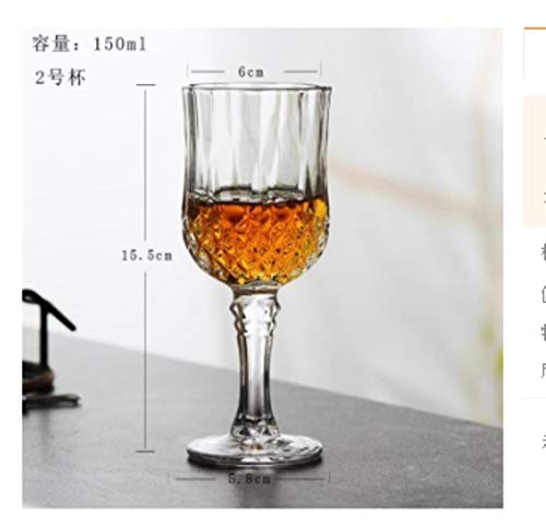 Ltong 1 STKS tallboy Wijnglas Loodvrij Kristal Cups Hoge Wijn Cup Bar Hotel DrinkwareCapaciteit Bierglas, 3