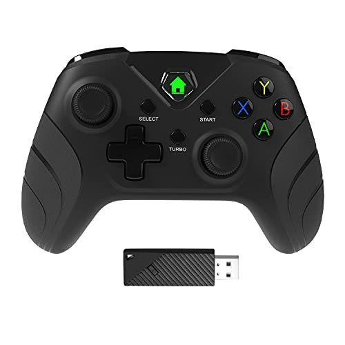 HYCARUS Dual Vibration Controller with Impulse Triggers Enhanced for Xbox One Controller Wireless. Works on Xbox One, Xbox One X/S, Xbox Series X/S, PS3, Windows 7/8/10 (Without 3.5mm Headphone Jack)