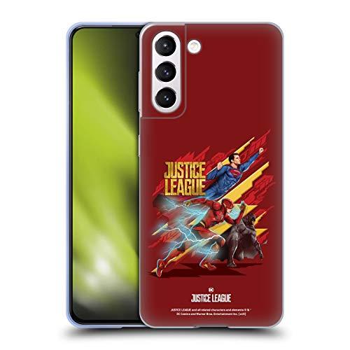 Head Case Designs Licenza Ufficiale Justice League Movie Trio Arte Personaggi Cover in Morbido Gel Compatibile con Samsung Galaxy S21 5G