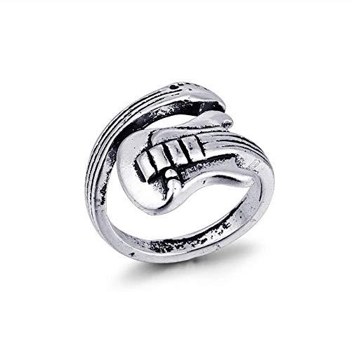 Ringen 1Pc Zilver Kleur Gitaar Open Ring Voor Vrouwen Sieraden Retro Viool Muzikale Ring Sieraden
