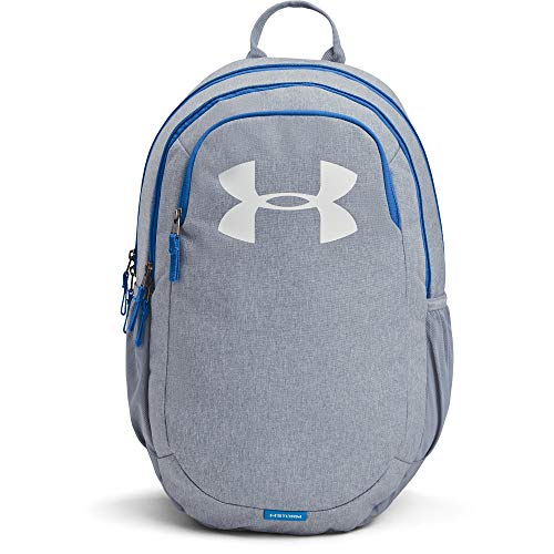Under Armour Adult Scrimmage Backpack 2.0 , Washed Blue Medium Heather (420)/White , One Size Fits All