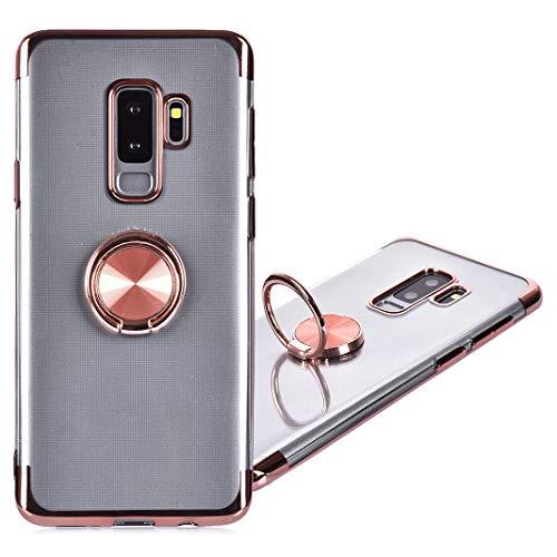 Galaxy S9 Plus Handyhülle Ring, Galaxy S9 Plus Hülle mit Ständer, 360 Grad Ring Grip Case Kompatibel mit Ssmsung Galaxy S9 Plus Silikon Stoßfest Schutz mit Kickstand,Kompatibel Magnetic Car Mount