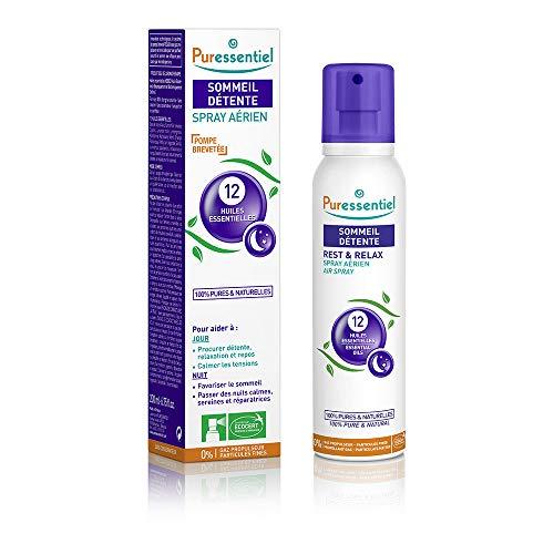 Puressentiel - Sommeil Détente - Spray Aérien aux 12 Huiles Essentielles - Aide à calmer les tensions - 200 ml