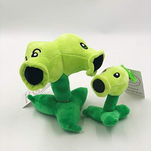 TavasHome Plants vs. Zombies 2 PVZ Figures Plush Stuffed Soft Toys Doll Split Pea with an Extra Mini Peashooter