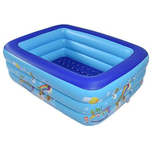 CZYSKY Espesar la Piscina Inflable, la Piscina Cuadrada Interior al Aire Libre, la Piscina Infantil de Uso en el hogar, el Juego de Agua 180x145x60cm para 3-4 niños
