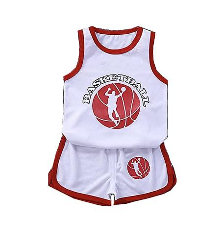 TYTF Conjunto de camiseta de baloncesto sin mangas para bebé, de malla, uniforme, camiseta y pantalones cortos, para verano, de 1 a 7 años Serie 2 110 cm