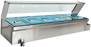 Techtongda 47'' 6-Pot Bain-Marie Food Warmer Bath Warmer Steam Table Hot Well
