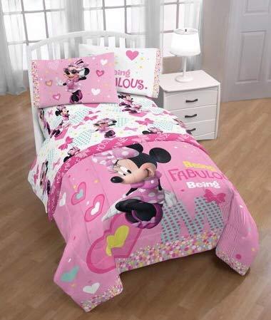 Disney Minnie Mouse Girls Twin Sheet Set