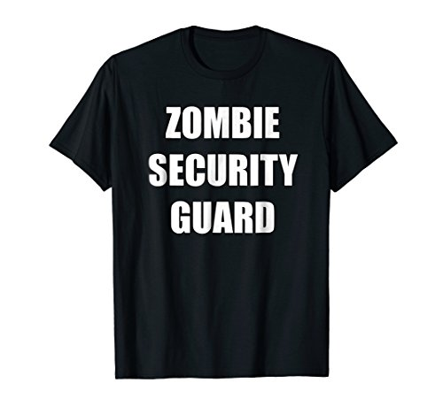 Zombie Security Guard Costume Shirt Zombie Party