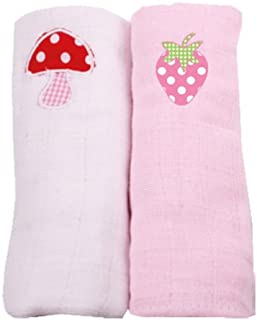 Minene UK Bamboo Muslin Dummy Safety Blanket Security Blanket with Pacifier Holder Pink with Grey and Silver Stars