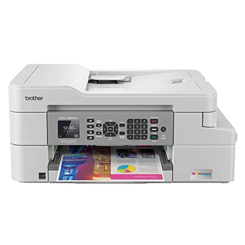 Brother MFC-J805DW XL Extended Print INKvestmentTank Color Inkjet All-in-One Printer with Mobile Device and Duplex Printing with Up To 2-Years of Ink In-box , White