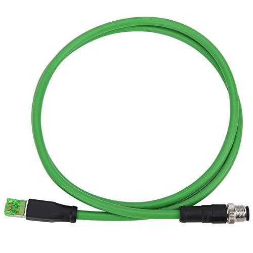 Cable Ethernet, Cable de conexión M12 a RJ45 Cable de red de 4 pines para aplicaciones Ethernet industriales Cable IP67 Línea de alambre blindado (1 m / 3,28 pies)