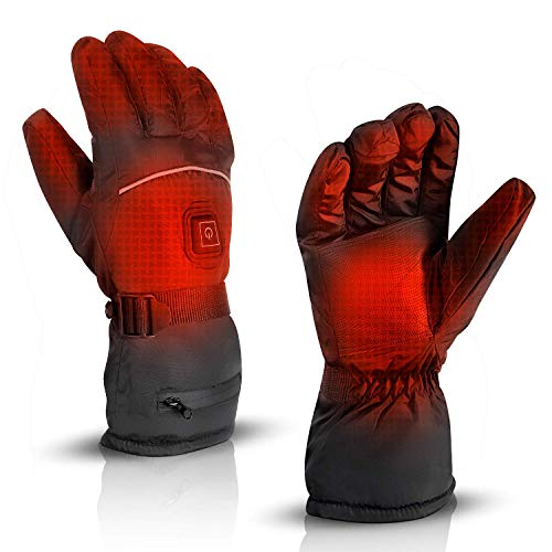 AIRGINE Heated Gloves for Men and Women, Electric Warm Gloves with Rechargeable Heating Pack Perfect for Winter Outdoor Cycling Hiking Skiing Snowboarding